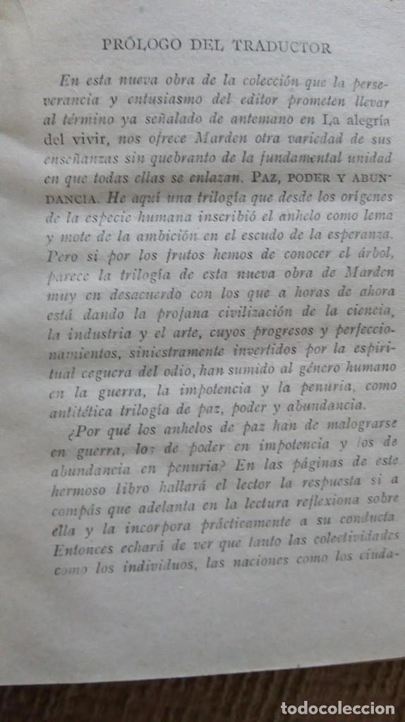 Libros antiguos: libro antiguo paz poder y abundancia 1917 - Foto 3 - 168634968