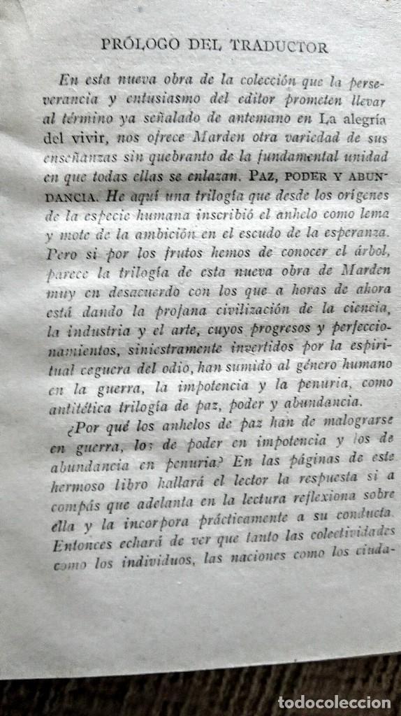 Libros antiguos: libro antiguo paz poder y abundancia 1917 - Foto 11 - 168634968