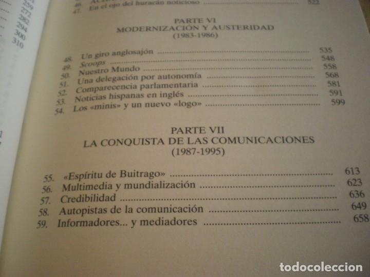 Libros antiguos: LIBRO HISTORIA DE LA AGENCIA EFE EL MUNDO EN ESPAÑOL - Foto 22 - 169644012