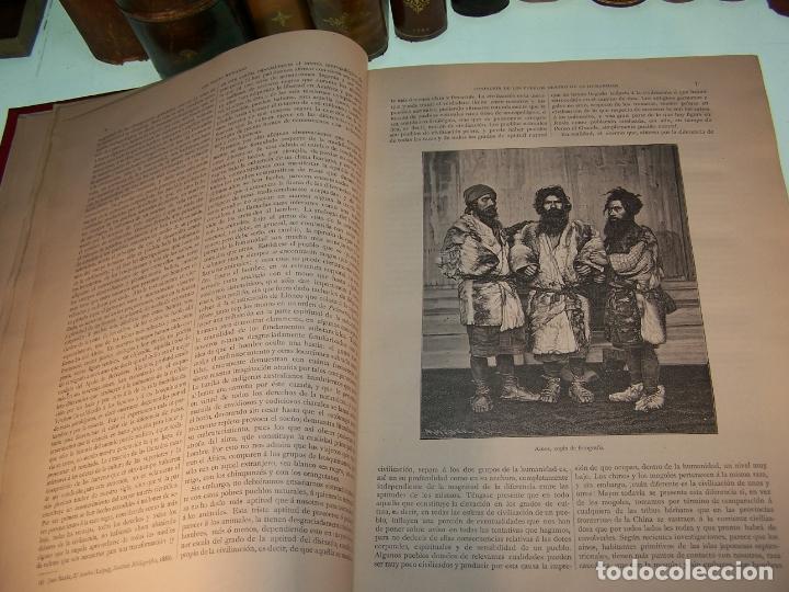 Libros antiguos: Las razas humanas. Federico Ratzel. 2 tomos. Montaner y Simon. Barcelona. 1888. - Foto 5 - 170858015