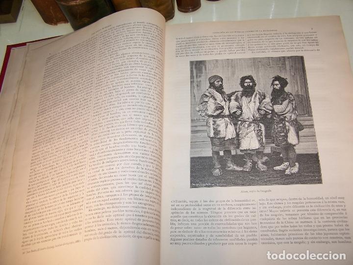 Libros antiguos: Las razas humanas. Federico Ratzel. 2 tomos. Montaner y Simon. Barcelona. 1888. - Foto 6 - 170858015