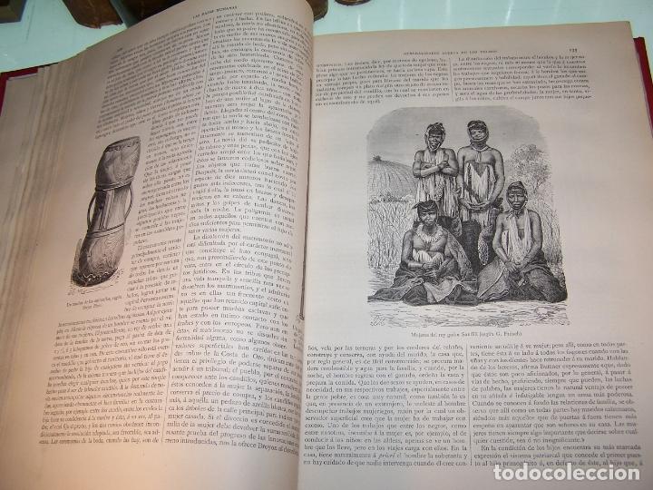 Libros antiguos: Las razas humanas. Federico Ratzel. 2 tomos. Montaner y Simon. Barcelona. 1888. - Foto 8 - 170858015