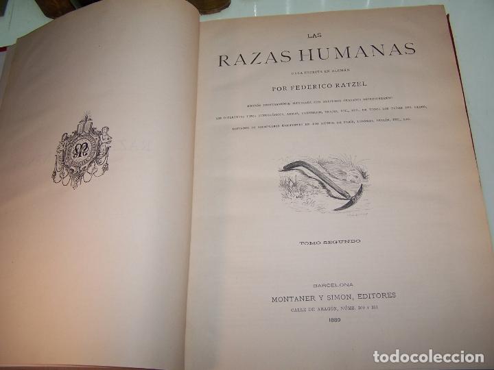 Libros antiguos: Las razas humanas. Federico Ratzel. 2 tomos. Montaner y Simon. Barcelona. 1888. - Foto 16 - 170858015