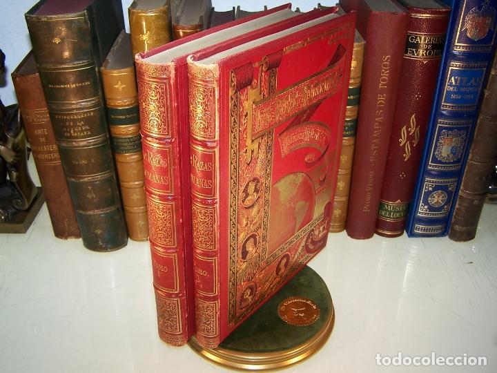 LAS RAZAS HUMANAS. FEDERICO RATZEL. 2 TOMOS. MONTANER Y SIMON. BARCELONA. 1888. (Libros Antiguos, Raros y Curiosos - Pensamiento - Sociología)