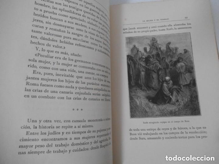 Libros antiguos: SCHREINER : LA MUJER Y EL TRABAJO -REFLEXIONES SOBRE LA CUESTIÓN FEMINISTA (MONTANER Y SIMÓN, 1914) - Foto 2 - 171700444