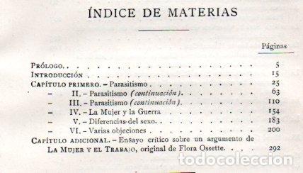 Libros antiguos: SCHREINER : LA MUJER Y EL TRABAJO -REFLEXIONES SOBRE LA CUESTIÓN FEMINISTA (MONTANER Y SIMÓN, 1914) - Foto 6 - 171700444