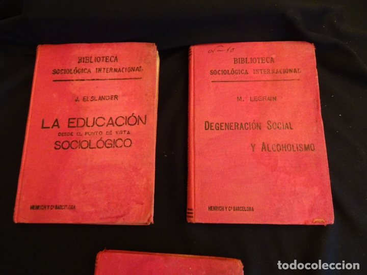 Libros antiguos: años 1906- 1910. lote de 3 libros sociología.degeneracio alcoholismo. genesis leyes penales. - Foto 2 - 172755423