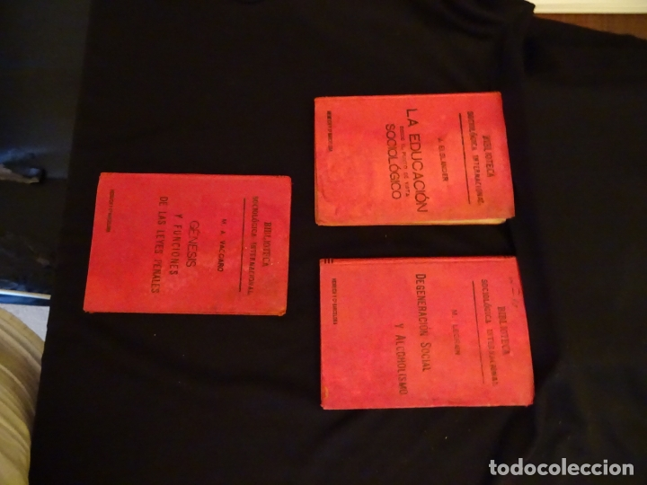 Libros antiguos: años 1906- 1910. lote de 3 libros sociología.degeneracio alcoholismo. genesis leyes penales. - Foto 3 - 172755423