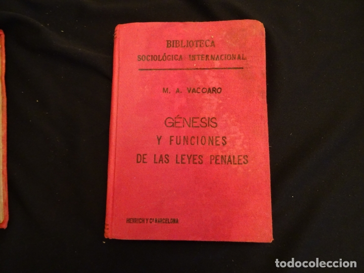 Libros antiguos: años 1906- 1910. lote de 3 libros sociología.degeneracio alcoholismo. genesis leyes penales. - Foto 4 - 172755423