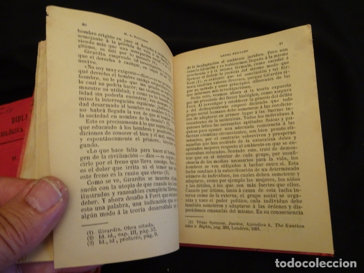 Libros antiguos: años 1906- 1910. lote de 3 libros sociología.degeneracio alcoholismo. genesis leyes penales. - Foto 15 - 172755423