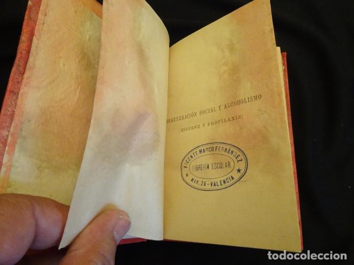 Libros antiguos: años 1906- 1910. lote de 3 libros sociología.degeneracio alcoholismo. genesis leyes penales. - Foto 17 - 172755423