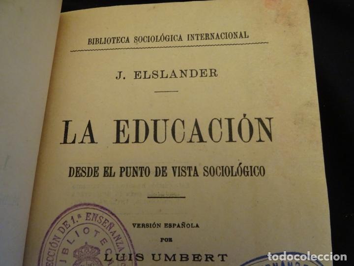 Libros antiguos: años 1906- 1910. lote de 3 libros sociología.degeneracio alcoholismo. genesis leyes penales. - Foto 5 - 172755423