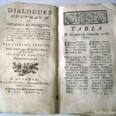 Libros antiguos: SOBRINO - DIALOGOS NUEVOS EN ESPAÑOL Y FRANCES... 1787. Lote 172997513