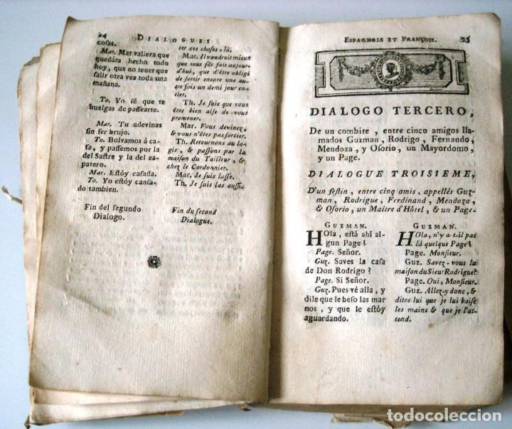 Libros antiguos: SOBRINO - DIALOGOS NUEVOS EN ESPAÑOL Y FRANCES... 1787 - Foto 8 - 172997513