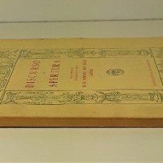 Libros antiguos: DISCURSO DE APERTURA. A. MESA-MOLES. IMP. URANIA. GRANADA. 1965/66.. Lote 173075454
