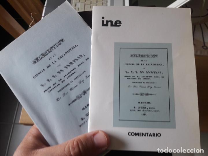 Libros antiguos: Elementos de la ciencia de la estadistica, A.F.F. de Sampaio, ed. I. Boix, facsimil del INE, RARO - Foto 2 - 175987374