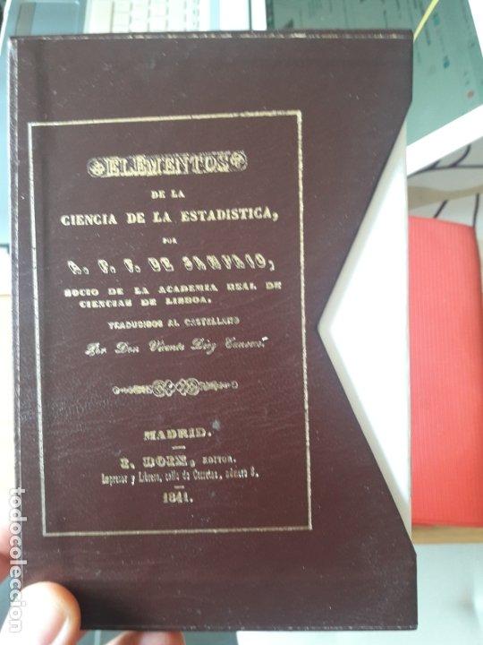 ELEMENTOS DE LA CIENCIA DE LA ESTADISTICA, A.F.F. DE SAMPAIO, ED. I. BOIX, FACSIMIL DEL INE, RARO (Libros Antiguos, Raros y Curiosos - Pensamiento - Sociología)