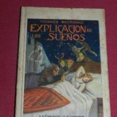 Libros antiguos: (M3.7) VISIONES NOCTURNAS - EXPLICACION DE LOS SUEÑOS, GRANADA EDT. ATLANTE . Lote 177403534
