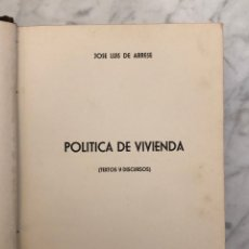 Livros antigos: POLÍTICA DE VIVIENDA. JOSÉ LUIS DE ARRESES(23€). Lote 177677629