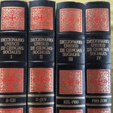 Libros antiguos: DICCIONARIO UNESCO DE CIENCIAS SOCIALES. Lote 178077375