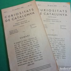 Libros antiguos: CURIOSITATS DE CATALUNYA GENER I SETEMBRE ANY 1936. Lote 181462900