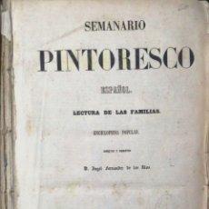 Libros antiguos: SEMANARIO PINTORESCO ESPAÑOL, Nº 1 AL Nº 40. 1855.LEER. Lote 183266415