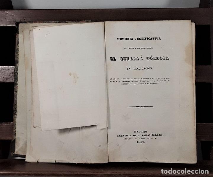 Libros antiguos: MEMORIA JUSTIFICATIVA QUE DIRIGE A SUS CONCIUDADANOS EL GENERAL CÓRDOBA EN VINDICACION. 1837. - Foto 5 - 188556102