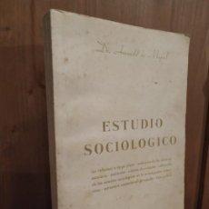Libros antiguos: ESTUDIO SOCIOLÓGICO AMANDO DE MIGUEL - PARA USO PRIVADO - ÚNICO. Lote 188844613