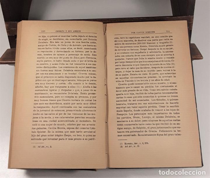 Libros antiguos: CICERON Y SUS AMIGOS. GASTON BOISSIER. EDIT. LA ESPAÑA MODERNA. MADRID. 1900. - Foto 5 - 189144237