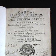Libros antiguos: AÑO 1777. TEATRO CRITICO UNIVERSAL. FEYJOÓ. CARTAS ERUDITAS Y CURIOSAS: EXORCISMO, DEMONIO, ETC. . Lote 189434768