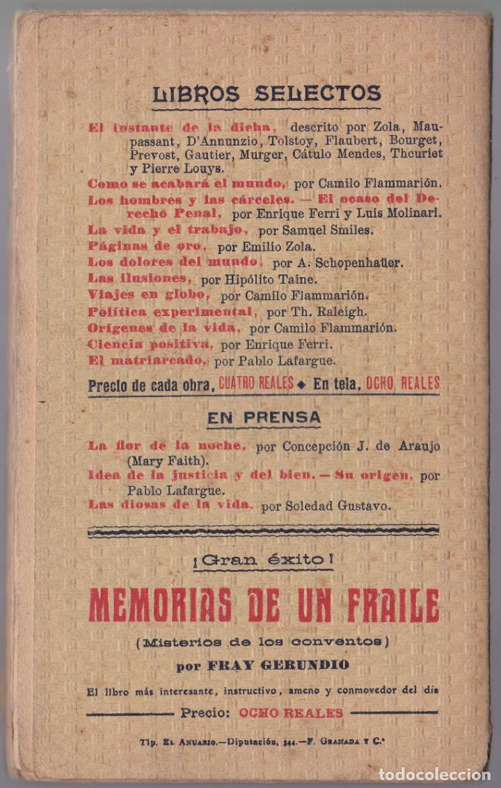 Libros antiguos: EL MATRIARCADO - PABLO LAFARGUE - CENTRO EDITORIAL PRESA - Foto 4 - 190708615