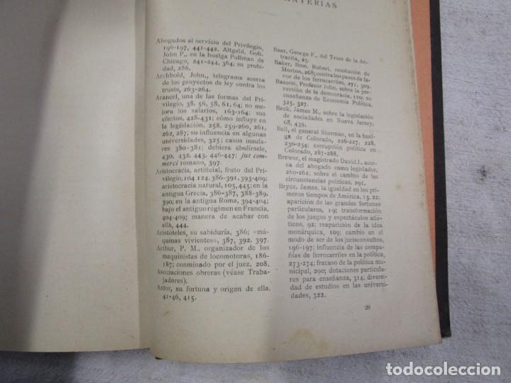 Libros antiguos: LA AMENAZA DEL PRIVILEGIO. Estudio de los peligros para la república...HENRY GEORGE 1916 + INFO - Foto 3 - 190874355