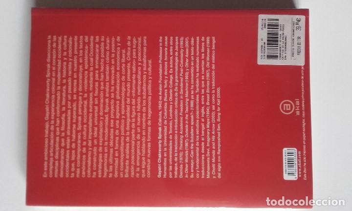 Libros antiguos: Crítica de la razón postcolonial, Gayatri Chakravorty Spivak - Foto 2 - 191568420