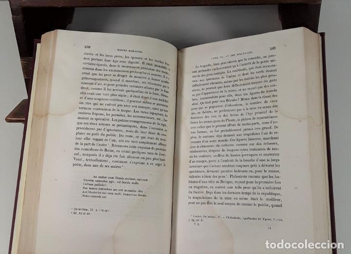 Libros antiguos: MOEURS ROMAINES DU REGNE DAUGUSTE A LA FIN DES ANTONINS. 3 TOMOS. 1867/1874. - Foto 7 - 192873315