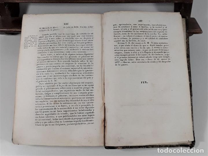 Libros antiguos: MEMORIA JUSTIFICATIVA QUE DIRIGE A SUS CONCIUDADANOS EL GENERAL CÓRDOBA EN VINDICACION. 1837. - Foto 8 - 188556102
