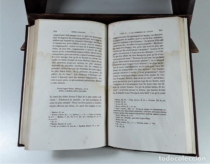 Libros antiguos: MOEURS ROMAINES DU RÈGNE DAUGUSTE A LA FIN DES ANTONINS. PARÍS. 1865. - Foto 5 - 195200942