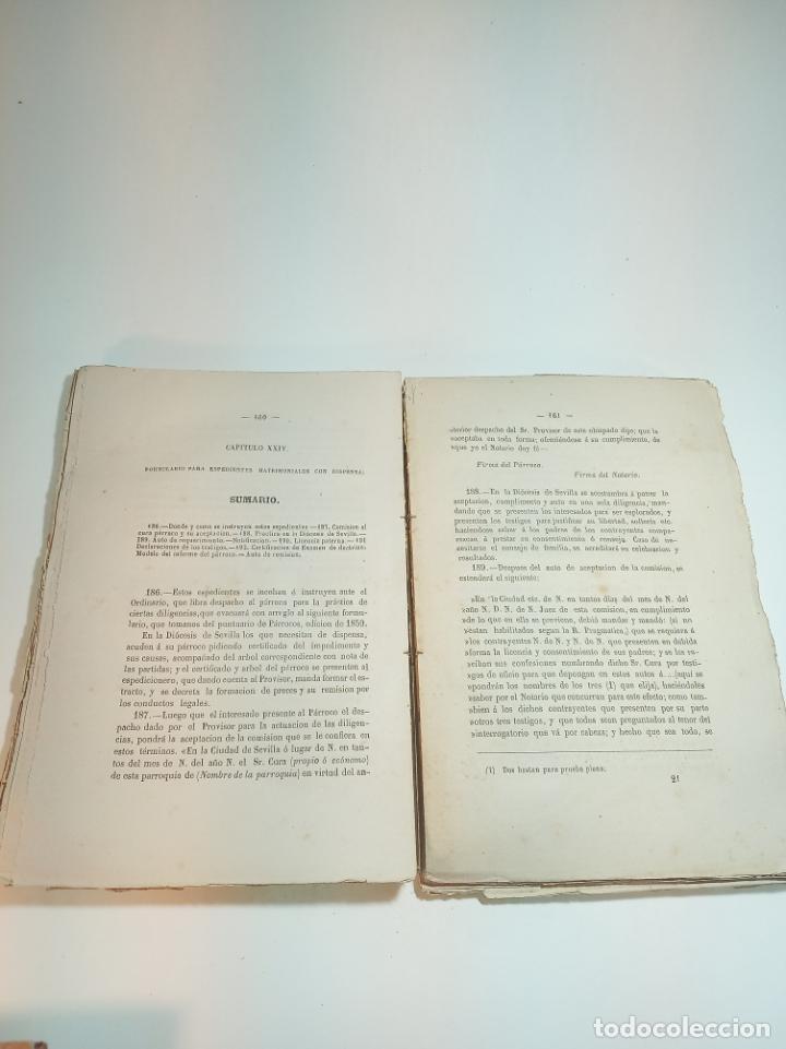 Libros antiguos: Tratado teórico-práctico del matrimonio, de sus impedimentos y dispensas. 2 tomos. Sevilla. 1864. - Foto 4 - 197095372