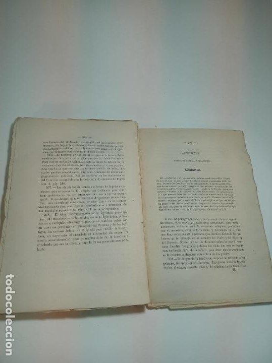 Libros antiguos: Tratado teórico-práctico del matrimonio, de sus impedimentos y dispensas. 2 tomos. Sevilla. 1864. - Foto 5 - 197095372