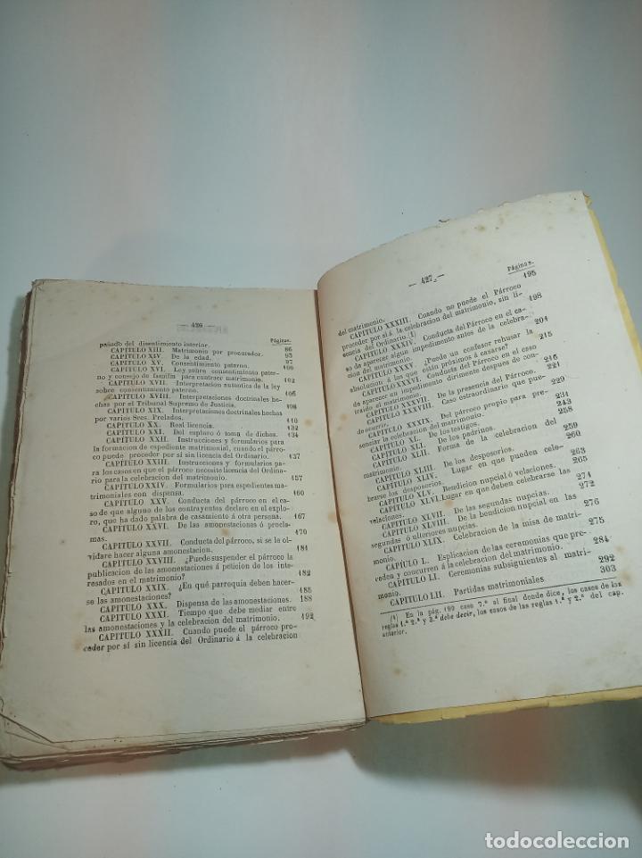 Libros antiguos: Tratado teórico-práctico del matrimonio, de sus impedimentos y dispensas. 2 tomos. Sevilla. 1864. - Foto 6 - 197095372