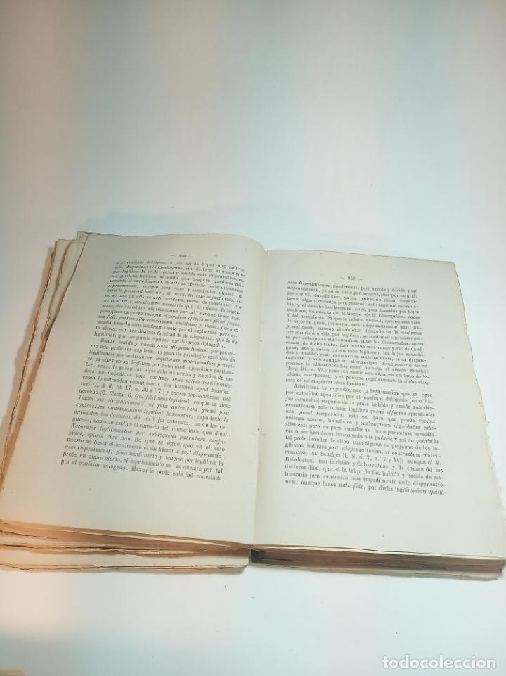 Libros antiguos: Tratado teórico-práctico del matrimonio, de sus impedimentos y dispensas. 2 tomos. Sevilla. 1864. - Foto 12 - 197095372