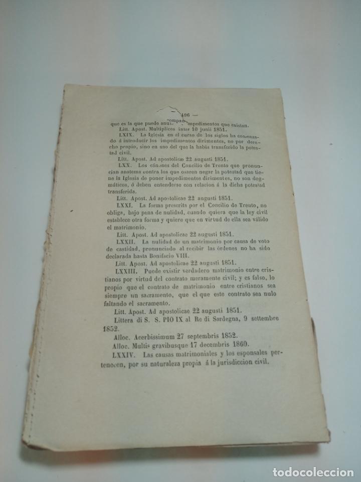 Libros antiguos: Tratado teórico-práctico del matrimonio, de sus impedimentos y dispensas. 2 tomos. Sevilla. 1864. - Foto 13 - 197095372