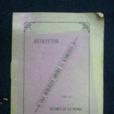 Libros antiguos: BURGOS. 1882. ESTATUTOS DE LA LIGA BURGALESA CONTRA LA IGNORANCIA PARA EL RÉGIMEN DE LA MISMA. Lote 197437490