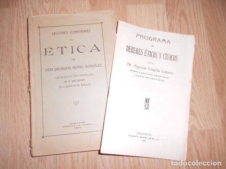 LECCIONES ELEMENTALES DE ETICA - SALVADOR NUÑEZ GONZALEZ - 1926 (Libros Antiguos, Raros y Curiosos - Pensamiento - Sociología)