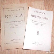 Libros antiguos: LECCIONES ELEMENTALES DE ETICA - SALVADOR NUÑEZ GONZALEZ - 1926. Lote 200529773