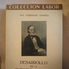 Libros antiguos: DESARROLLO DE LA CUESTIÓN SOCIAL. COLECCIÓN LABOR 1933. 200PGS. SECCIÓN X 116. Lote 203992141