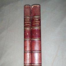 Libros antiguos: 1888. LAS RAZAS HUMANAS. FEDERICO RATZEL. MONTANER Y SIMÓN.. Lote 204186931