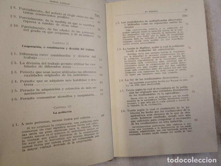 Libros antiguos: LA RIQUEZA - EDWIN CANNAN - COLECCION LABOR Nº376/377 1936 EXCELENTE CORREO 2.40€ + INFO - Foto 4 - 209825926