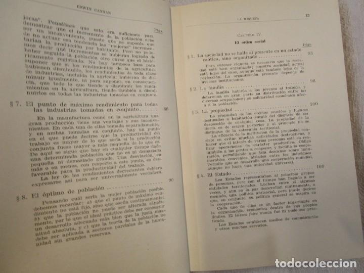 Libros antiguos: LA RIQUEZA - EDWIN CANNAN - COLECCION LABOR Nº376/377 1936 EXCELENTE CORREO 2.40€ + INFO - Foto 5 - 209825926