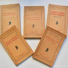 Libros antiguos: LOTE 5 LIBROS BIBLIOTECA MARVÁ. ORGANIZACIÓN TRABAJO, HIGIENE INDUSTRIAL, COOPERATIVA DE CONSUMO.... Lote 216707051