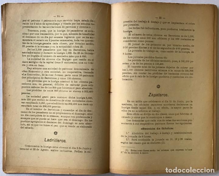 Libros antiguos: LAS HUELGAS EN BARCELONA y sus resultados durante el año 1903. Acompañado de numerosos é importantes - Foto 2 - 123246155